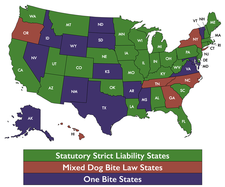 Dog Bite Law States
