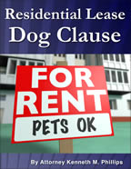 Residential Lease Dog Clause