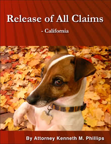 Release of All Claims - California