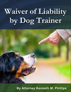 Waiver Liability Dog Trainer